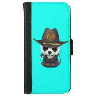 Capa Carteira Para iPhone 6/6s Caçador do zombi do urso de panda do bebê