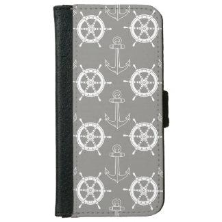 Capa Carteira Para iPhone 6/6s Caixa cinzenta ausente da carteira do iPhone das