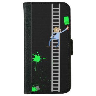 Capa Carteira Para iPhone 6/6s Caixa da carteira do iPhone do Splatter do verde