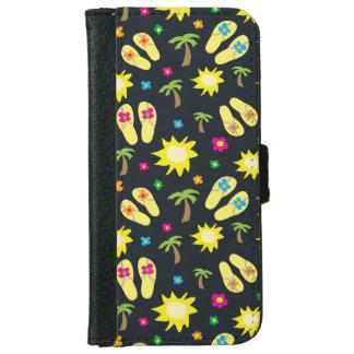 Capa Carteira Para iPhone 6/6s Caixa da carteira do telefone das flores das