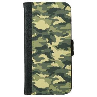 Capa Carteira Para iPhone 6/6s Caixa verde da carteira do iPhone 6 da camuflagem