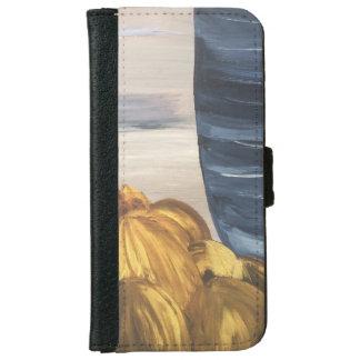 Capa Carteira Para iPhone 6/6s Caneca & feijões azuis de café