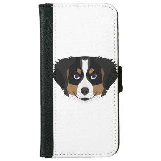 Capa Carteira Para iPhone 6/6s Cão de montanha de Bernese da ilustração