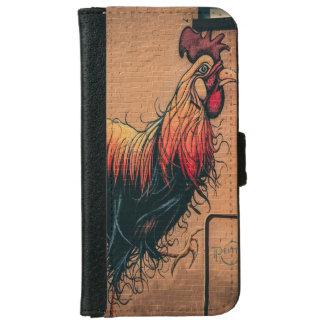 Capa Carteira Para iPhone 6/6s Carteira do telefone da galinha da parede