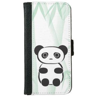Capa Carteira Para iPhone 6/6s Carteira do telefone do urso de panda