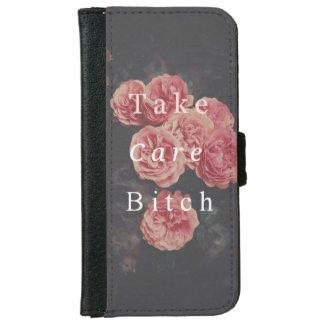 Capa Carteira Para iPhone 6/6s Casco carteira para iPhone 6/6s Flowers