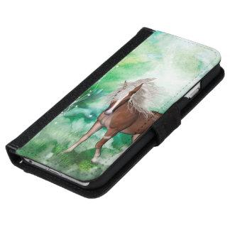 Capa Carteira Para iPhone 6/6s Cavalo bonito no país das maravilhas