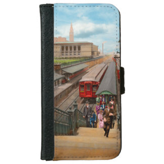 Capa Carteira Para iPhone 6/6s Cidade - Chicago - a estação 1907 da rua de Van