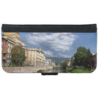 Capa Carteira Para iPhone 6/6s Cidade de Sarajevo, capital de Bósnia e