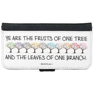 Capa Carteira Para iPhone 6/6s Cofre forte comigo iPhone da árvore & caixa da