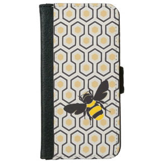 Capa Carteira Para iPhone 6/6s Colmeia retro do teste padrão do favo de mel