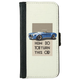 Capa Carteira Para iPhone 6/6s Como você gira este no carro azul da cobra