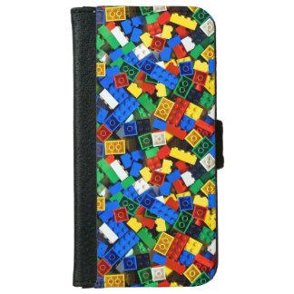 Capa Carteira Para iPhone 6/6s Construção dos tijolos da construção dos blocos de