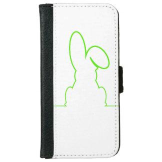 Capa Carteira Para iPhone 6/6s Contorno de uma luz da lebre - verde