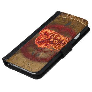 Capa Carteira Para iPhone 6/6s Crânios assustadores do vôo