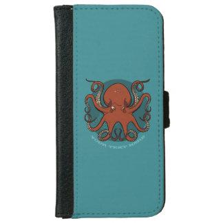 Capa Carteira Para iPhone 6/6s Desenhos animados vermelhos ferozes dos tentáculos