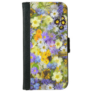 Capa Carteira Para iPhone 6/6s Design da flor no caso Iphone6