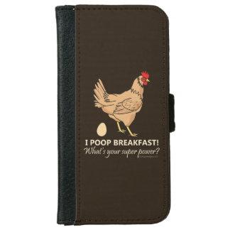 Capa Carteira Para iPhone 6/6s Design engraçado do pequeno almoço dos tombadilhos