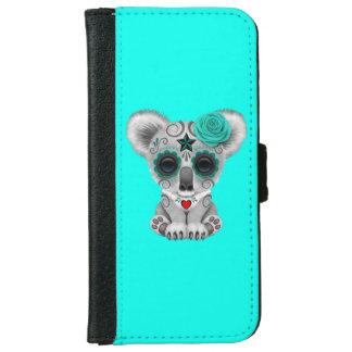 Capa Carteira Para iPhone 6/6s Dia azul do Koala inoperante do bebê