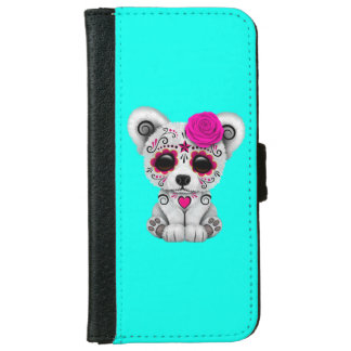 Capa Carteira Para iPhone 6/6s Dia cor-de-rosa do urso polar do bebê inoperante