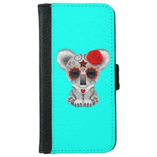 Capa Carteira Para iPhone 6/6s Dia vermelho do Koala inoperante do bebê