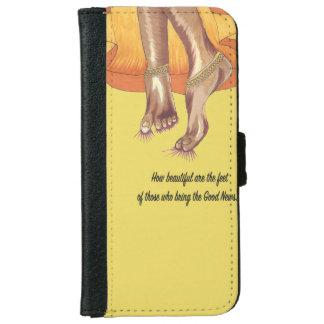 Capa Carteira Para iPhone 6/6s Do telefone pés bonitos da caixa da carteira
