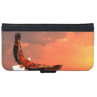 Capa Carteira Para iPhone 6/6s Eagle que voa ao sol - 3D rendem