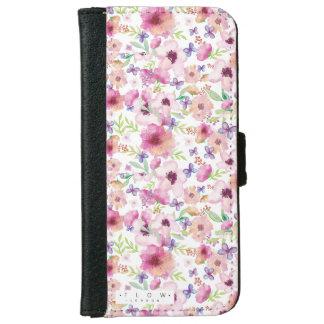 Capa Carteira Para iPhone 6/6s Fluxo - LONDRES - caixa floral da carteira do