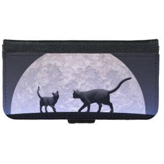 Capa Carteira Para iPhone 6/6s Gatos românticos