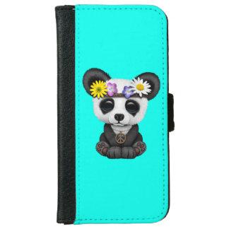 Capa Carteira Para iPhone 6/6s Hippie bonito da panda do bebê