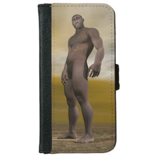 Capa Carteira Para iPhone 6/6s Homo erectus masculino - 3D rendem