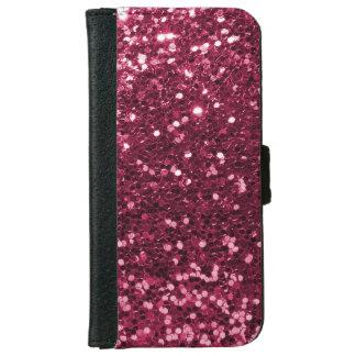 Capa Carteira Para iPhone 6/6s Impressão cor-de-rosa magenta da faísca do brilho
