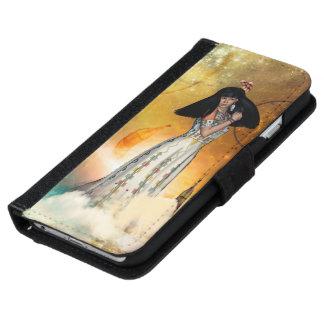 Capa Carteira Para iPhone 6/6s Indiano amarican bonito