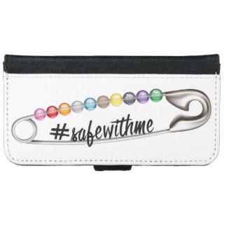 Capa Carteira Para iPhone 6/6s iPhone do #SafeWithMe & caixa da carteira de