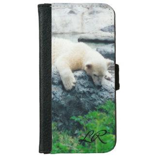 Capa Carteira Para iPhone 6/6s iPone do filhote de urso polar ou carteira curiosa