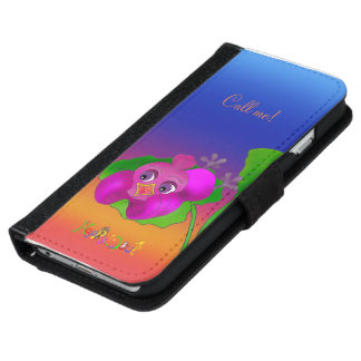 Capa Carteira Para iPhone 6/6s Lila está falando pelos Feliz Juul Empresa