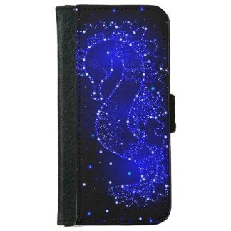 Capa Carteira Para iPhone 6/6s natações do cavalo de mar nas luzes
