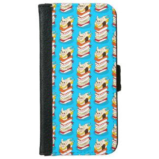 Capa Carteira Para iPhone 6/6s Noite japonesa do sushi para o buldogue francês