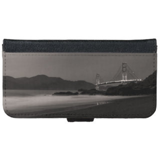 Capa Carteira Para iPhone 6/6s O relógio de noite no Golden Gate