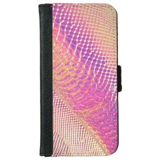 Capa Carteira Para iPhone 6/6s Olhar cor-de-rosa da pele de cobra