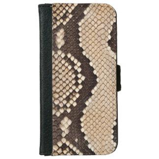 Capa Carteira Para iPhone 6/6s Olhar da pele de cobra