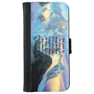 Capa Carteira Para iPhone 6/6s Oração da serenidade com vista panorâmica Monte