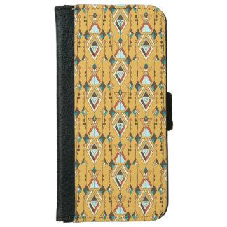 Capa Carteira Para iPhone 6/6s Ornamento asteca tribal étnico do vintage