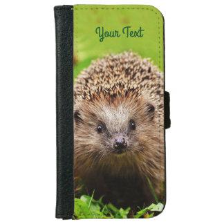 Capa Carteira Para iPhone 6/6s Ouriço pequeno personalizado na floresta