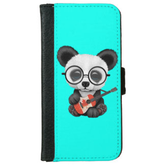 Capa Carteira Para iPhone 6/6s Panda do bebê que joga a guitarra canadense da