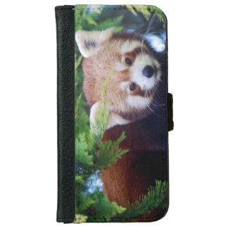 Capa Carteira Para iPhone 6/6s Panda vermelha
