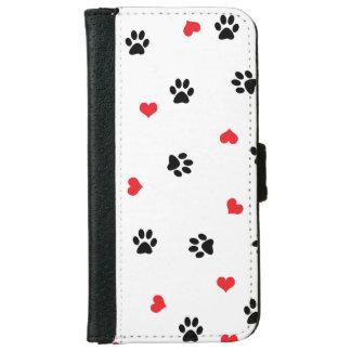 Capa Carteira Para iPhone 6/6s Pata clara doce bonito do animal de estimação e