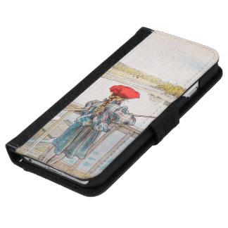 Capa Carteira Para iPhone 6/6s Pesca por Carl Larsson, belas artes de Lisbet do