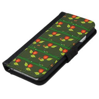 Capa Carteira Para iPhone 6/6s Plantas e flores