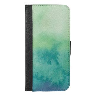 Capa Carteira Para iPhone 6/6s Plus Aguarela abstrata bonita